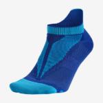 Calcetin Nike Elite Running No Show Invisible color azul con acolchado