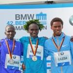 Maratón de Berlín 2015 - Podio Hombres