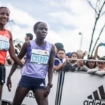 Media Maratón de Bogotá 2015 - Amane Gobena (Etiopía) y Sharon Cherop (Kenia)