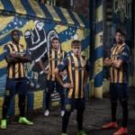 Presentación camiseta Rosario Central Nike en Lugar Fundacional - Yeimar Pastor, Pablo Becker, Franco Cervi y Tomás Berra