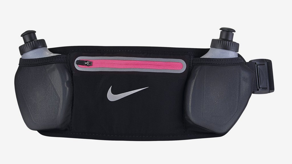 Riñonera de running Nike Lean Two-Bottle con dos compartimentos para botellas de agua de 177 ml. para la cintura