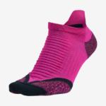 Medias Nike Elite Running No Show Invisible color rosa con acolchado