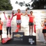 Chevrolet 10K carrera 27 de Octubre 2012 podio femenino