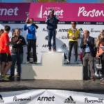 Podio categoria femenina Media Maratón Arnet 21K - 2013