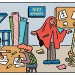 1978: Para cumplir con su objetivo, Nike establece un departamento de ropa en la casa, que se encarga de diseñar una colección que permitirá a los corredores entrenar, ya sea que llueva o haga sol, y que no inhiba el movimiento natural.