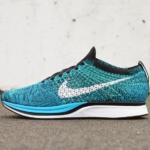 Zapatillas para correr Nike Flyknit Racer color Blue Cactus