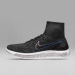 Zapatillas para correr Nike LunarEpic Flyknit - Negra - Lateral - Hombre
