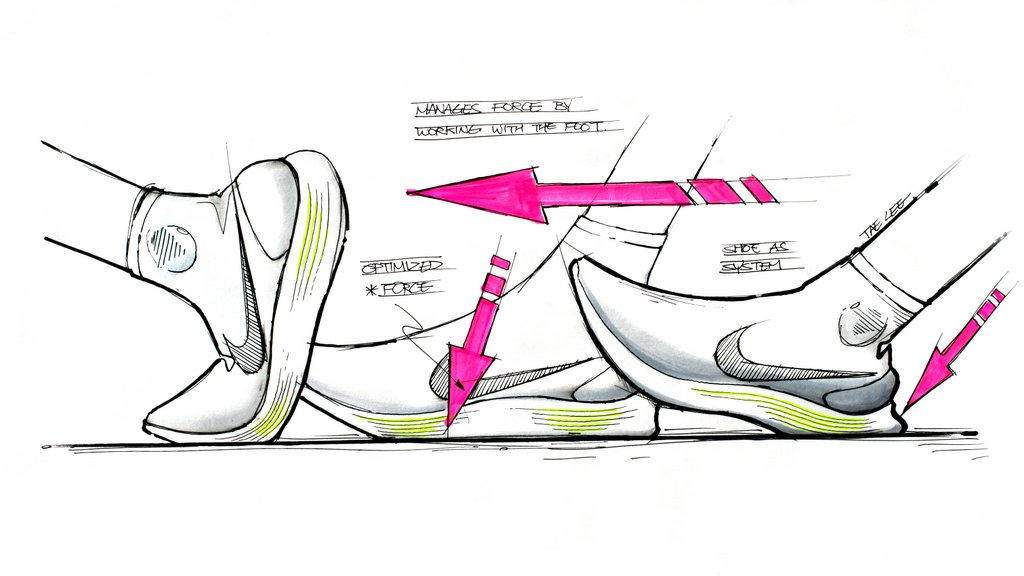 Zapatillas Para Correr Nike Lunarepic Flyknit Dibujo Running Correr
