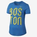 Remera Nike Dri Blend SS Crew Curve Boston 2016 - Mujer