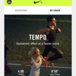 Nike+ Run Club app - Entrenamientos