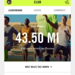 Nike+ Run Club app - Tabla de líderes