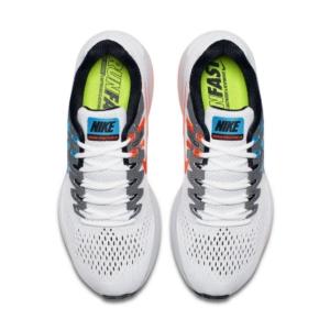 Zapatillas para correr nike Air Zoom Structure 20 Aniversario color Blanco y Celeste - Arriba