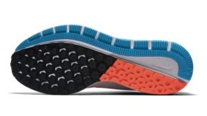 Zapatillas para correr nike Air Zoom Structure 20 Aniversario color Blanco y Celeste - Suela