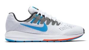 Zapatillas para correr nike Air Zoom Structure 20 Aniversario color Blanco y Celeste