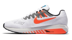Zapatillas para correr nike Air Zoom Structure 20 Aniversario color Blanco y Naranja