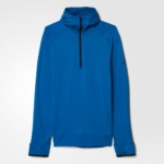 Abrigo medio cierre con capucha adidas Climaheat