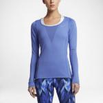 Camiseta Running Nike Zonal Cooling Relay manga larga para mujer - color celeste