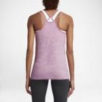 Camiseta de tirantes de running Nike Dry Knit para mujer color lila - detalle reflectante posterior