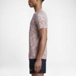 Camiseta mangas cortas para correr Nike Dry Knit para hombre color lila claro