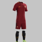 Kit Home Nike del club de fútbol AS Roma para 2017- 2018