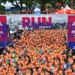 Largada de la Media Maratón Ciudad de Rosario 2017