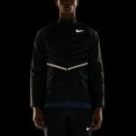 Chaqueta Nike Aeroloft Running para correr de hombre - detalle reflectivos para correr en la noche