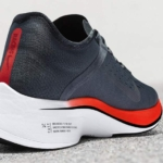 Zapatillas para correr Nike Zoom Vaporfly 4% color azul oscuro - entresuela y talón