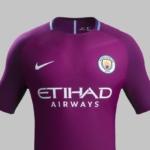 Camiseta Manchester City 2017 - 2018 de visitante Nike Fútbol