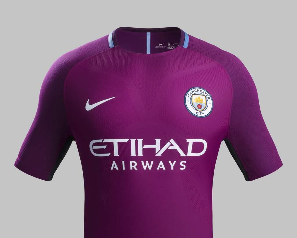 Camiseta Manchester City 2017 - 2018 de visitante Nike Fútbol ... 9649f6a454ac5