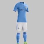 Equipación Manchester City 2017 - 2018 de local Nike Fútbol