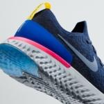 Nike Running Epic React azul - detalle talón