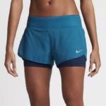 Short running Nike Rival 2 en 1 con malla para mujer