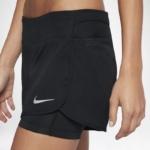 Short running Nike Rival 2 en 1 con malla para mujer - detalle ventilación