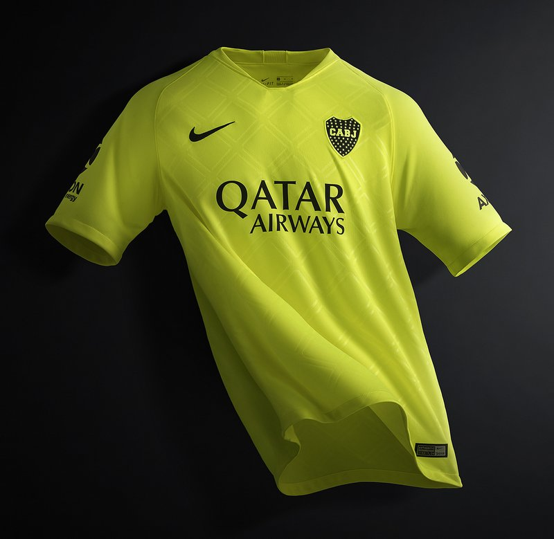 Tercera camiseta Boca Juniors 2018 2019 Nike color volt
