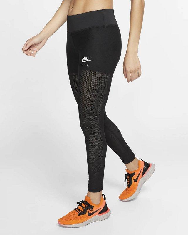 Malla o calza Nike running mujer color negra