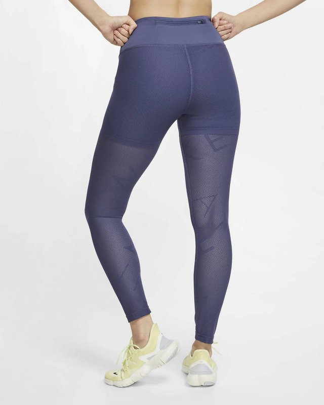 Malla o calza Nike running mujer color azul