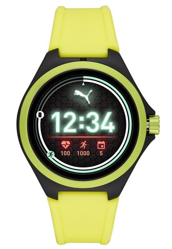 Puma Smartwatch 2019 con sistema Wear OS de Google y procesador Qualcomm color amarillo