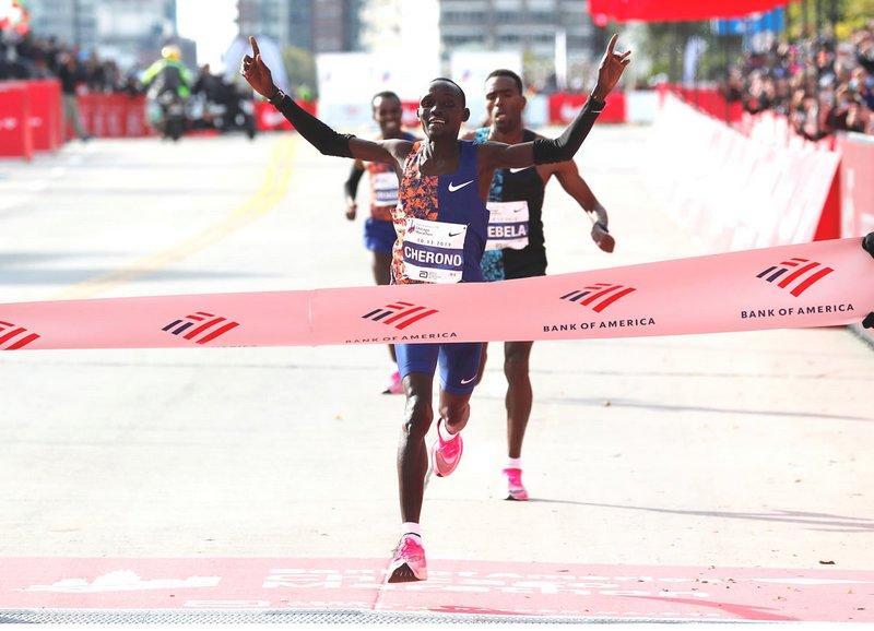Lawrence Cherono ganador del Maratón de Chicago 2019