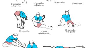 Estiramientos para después de correr