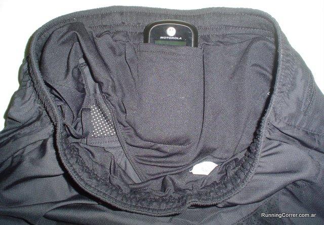Short Nike bolsillo interno cintura para teléfono