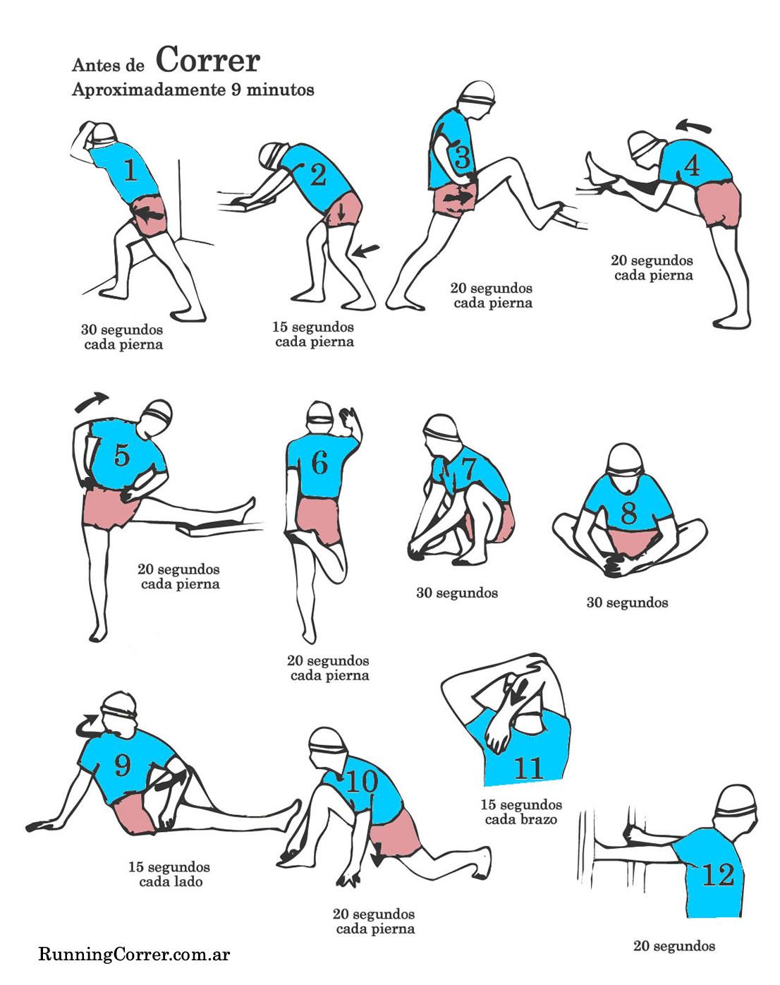 Estiramientos para antes de correr