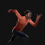 English Gardner Medallista de Plata del Campeonato Mundial 4x100m vistiendo el Pulover Nike AeroReact para Mujer