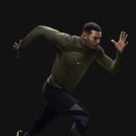 Ryan Bailey Finalista Olímpico de los 100M vistiendo el Nike AeroReact Medio Cierre para Hombre