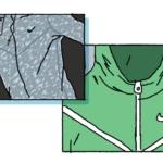Década de 2010: el chevron perdura en la estética de la chaqueta y su evolución sigue su marcha. La prenda se vuelve a imaginar con una cálida tela ligera, Nike Tech Fleece y elaborada con la tecnología Nike Tech Aeroshield, que combina la resistencia al agua con la transpirabilidad.