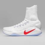 Zapatillas para baloncesto Nike Hyperdunk 2016 - Blanca - Lateral - Hombre