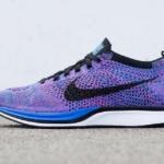Zapatillas para correr Nike Flyknit Racer color Indigo