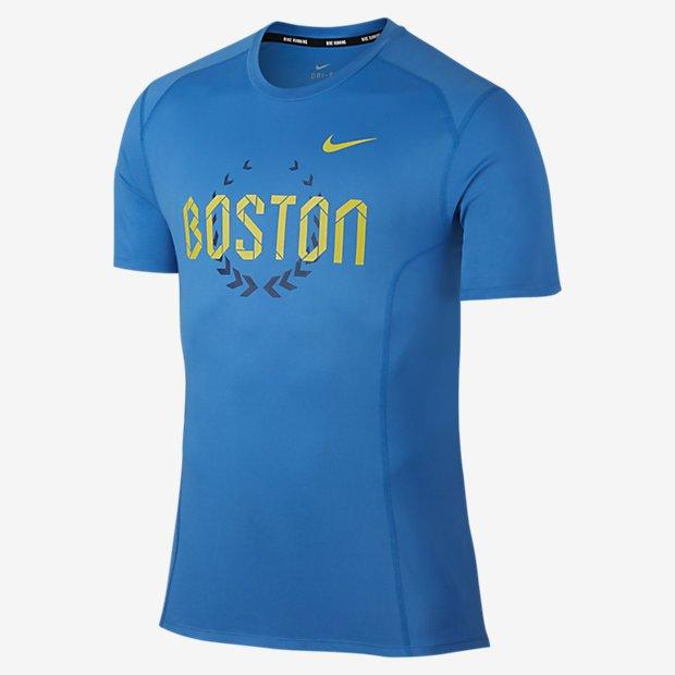 Remera Nike Dri Fit miler SS Boston 2016 - Hombre