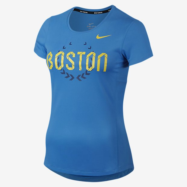 Remera Nike Dri-Fit Miler SS Boston 2016 - Mujer