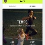 Nike+ Run Club app - Entrenamientos