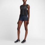 Short elastizado Nike Running Power Epic Lux para mujer color obsidiana (Calza - malla de 7,5cm)